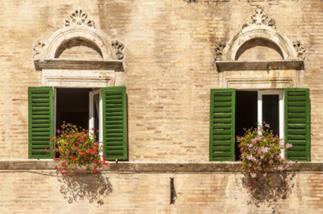 La ville de Grottammare en Italie