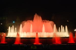 La fontaine de Monjuïc Barcelone de nuit