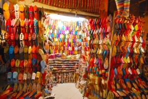 Souk chaussures Marrakech